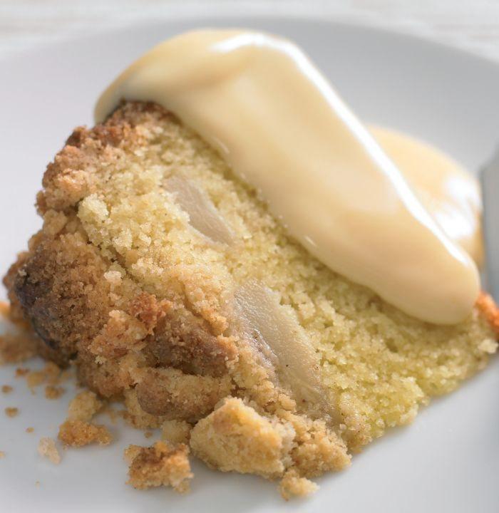 Apple Sponge Cake Pudding