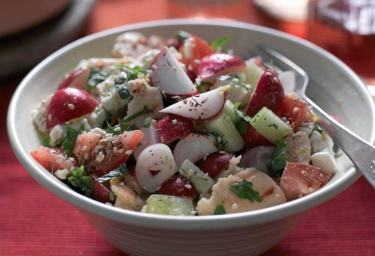 Lebanese radish fattoush salad vegetarian recipe lebanese radish fattoush salad recipe veggie magazine forumfinder Choice Image
