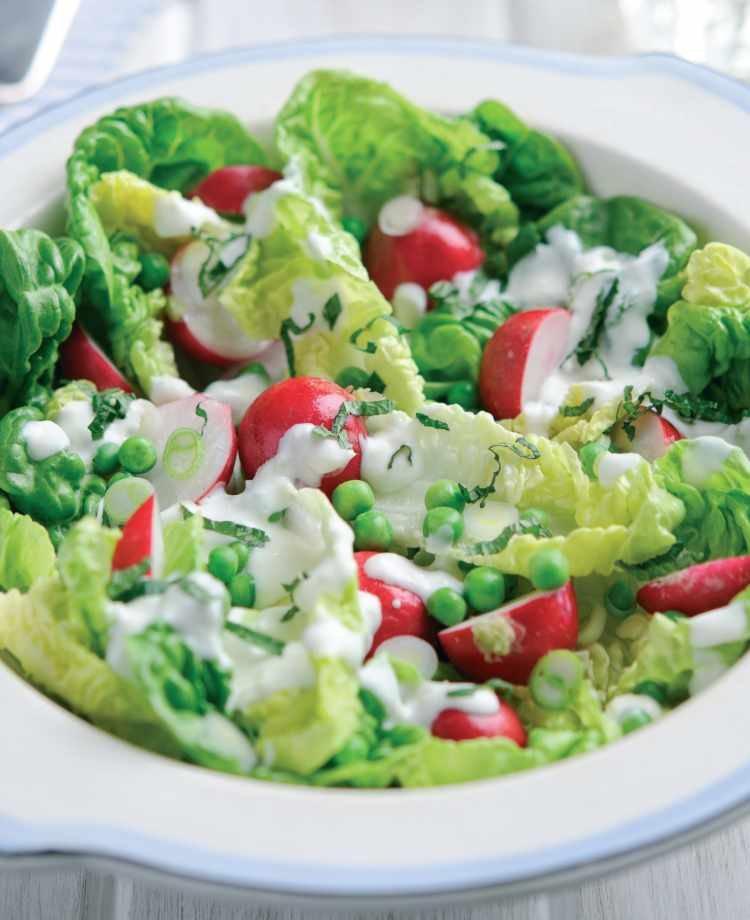 Menu For Olive Garden: Radish Garden Salad Vegetarian Recipe