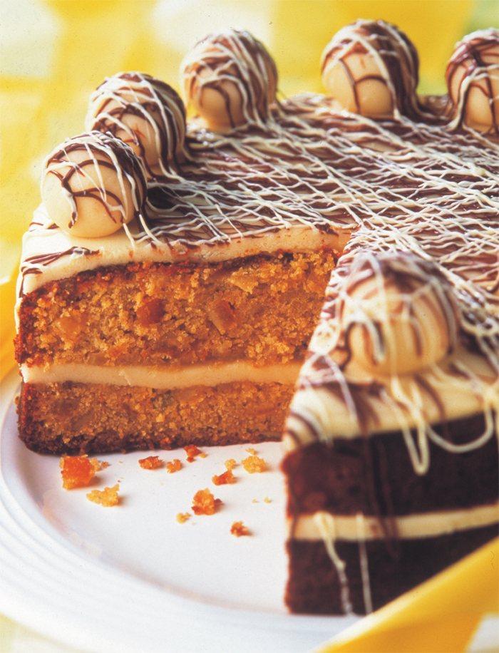 Orange And Marzipan Simnel Cake Vegetarian Recipe