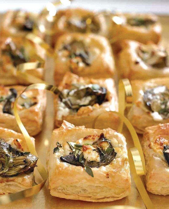 Feta and artichoke canapes vegetarian recipe for Canape recipe