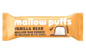 BARÚ NV Mallow Puffs Vanilla Bean Mallow Bar Dunked in Belgian Milk Chocolate