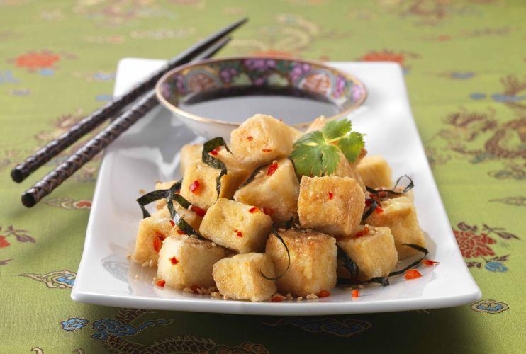 Fried Tofu in Chinese Sesame Soy Sauce Vegetarian Recipe
