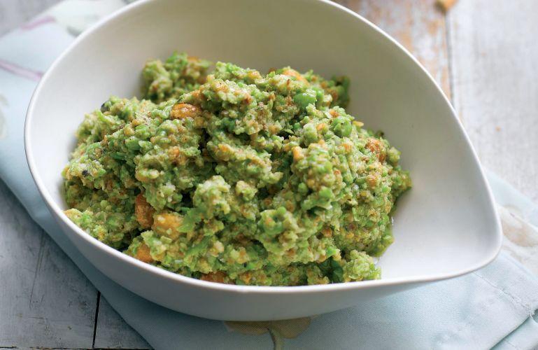 Pea, Pecorino and Hazelnut Pesto Dip Vegetarian Recipe